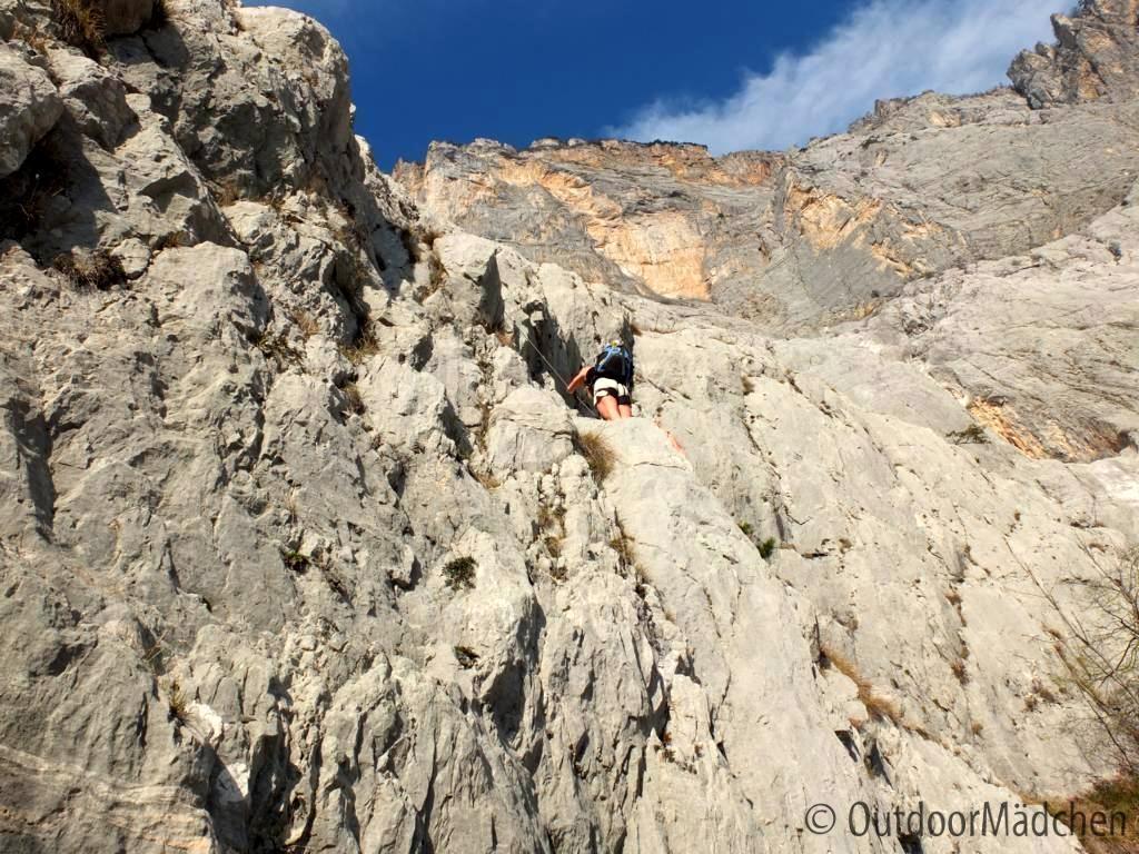 Klettersteig Che Guevara : Klettersteig che guevara in pietramurata im sarcatal der nähe
