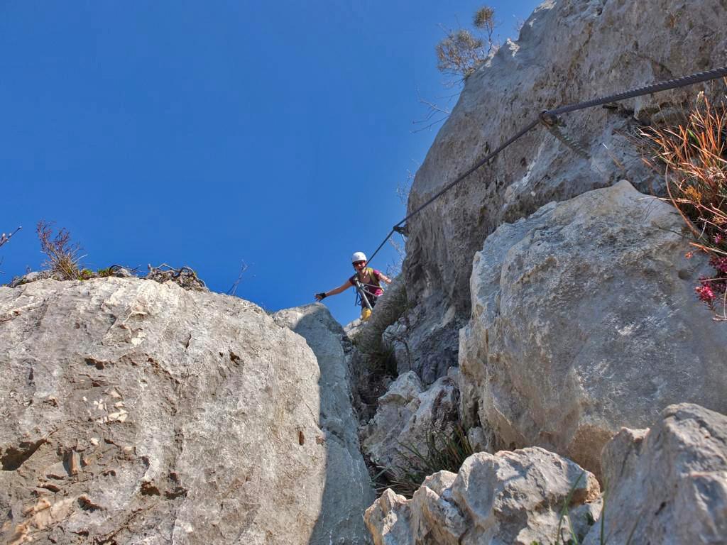 Klettersteig Vogesen : Die cima rocca klettersteig runde auf den wegen von