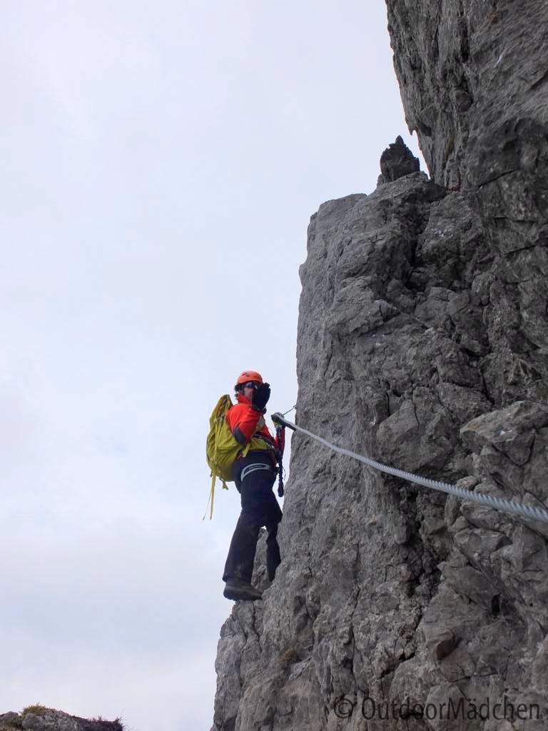 Fröhliche Kurzweil auf dem Klettersteig Walsersteig - OutdoorMädchen